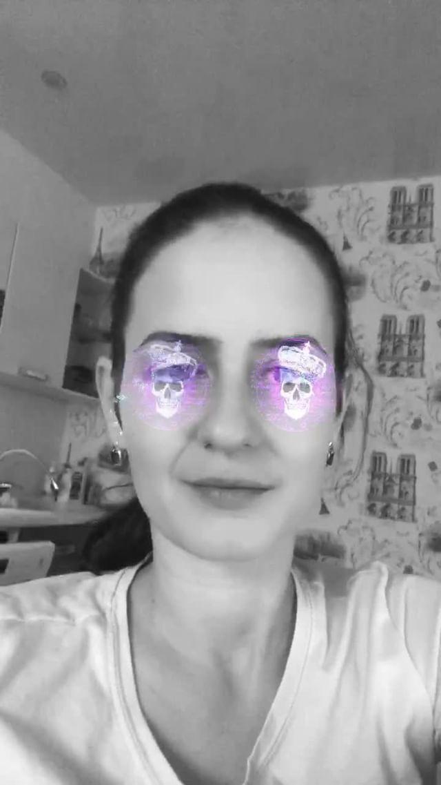 olya_interes Instagram filter TREND Neon Glass