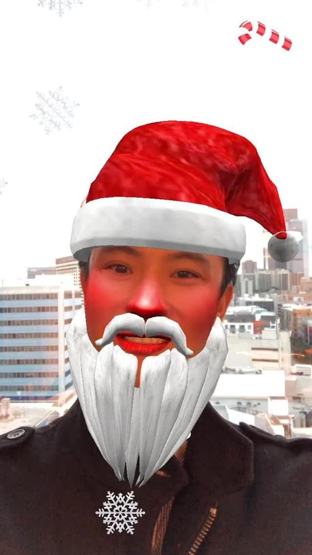 at.augmented Instagram filter Santa Claus Me
