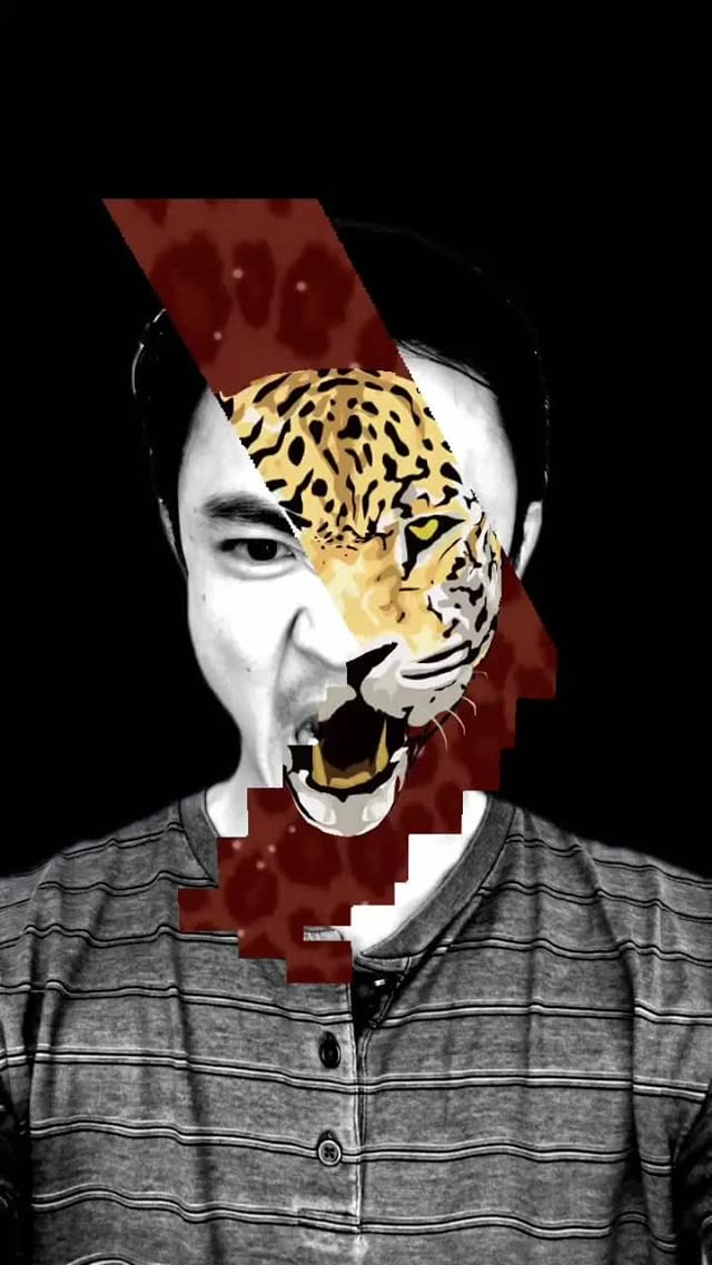 at.augmented Instagram filter Inner Beast