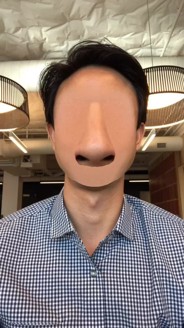 at.augmented Instagram filter Nose Face