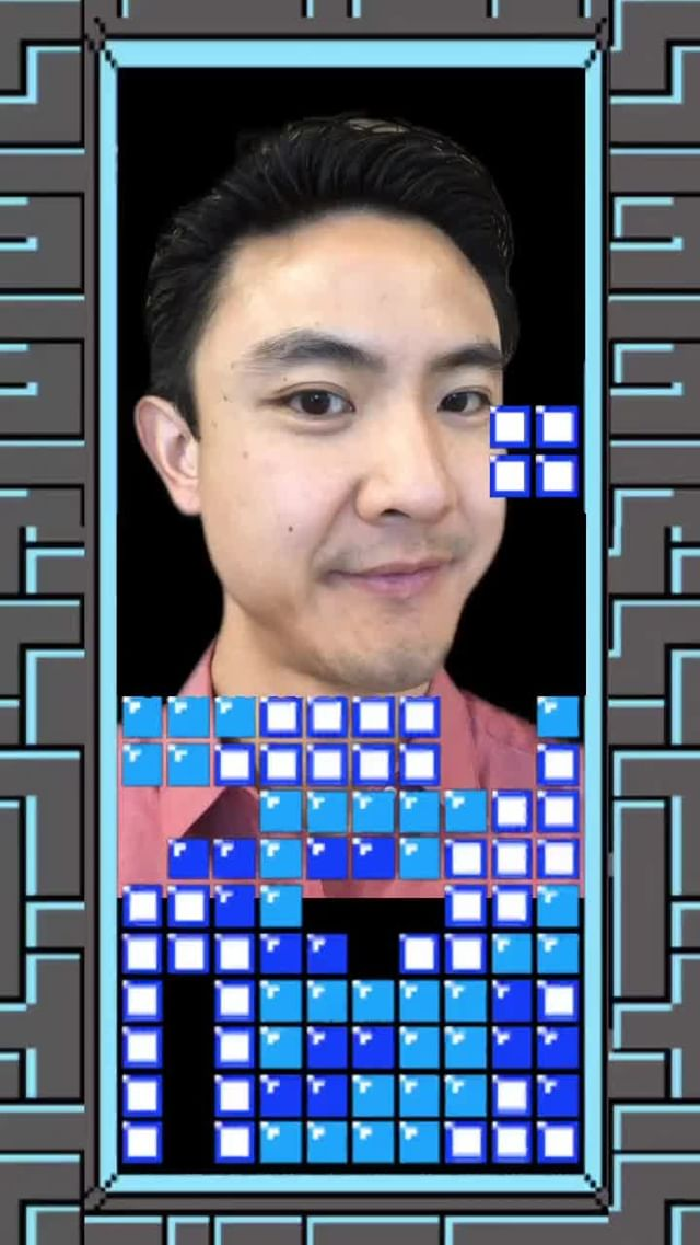 Instagram filter Tetris