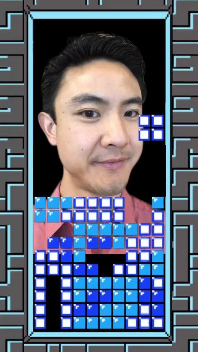 at.augmented Instagram filter Tetris