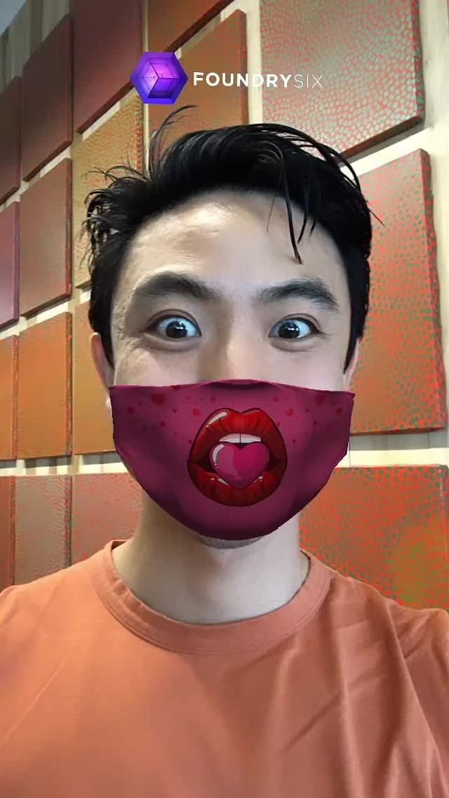 at.augmented Instagram filter Love Mask