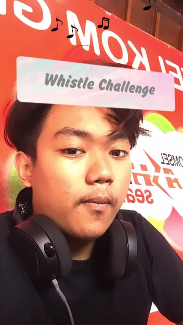 Instagram filter Whistle Challenge