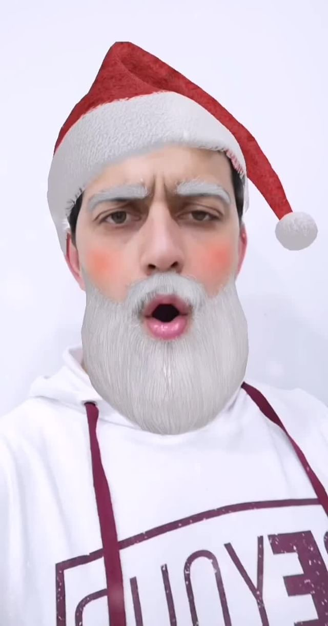 Instagram filter Santa Christmas
