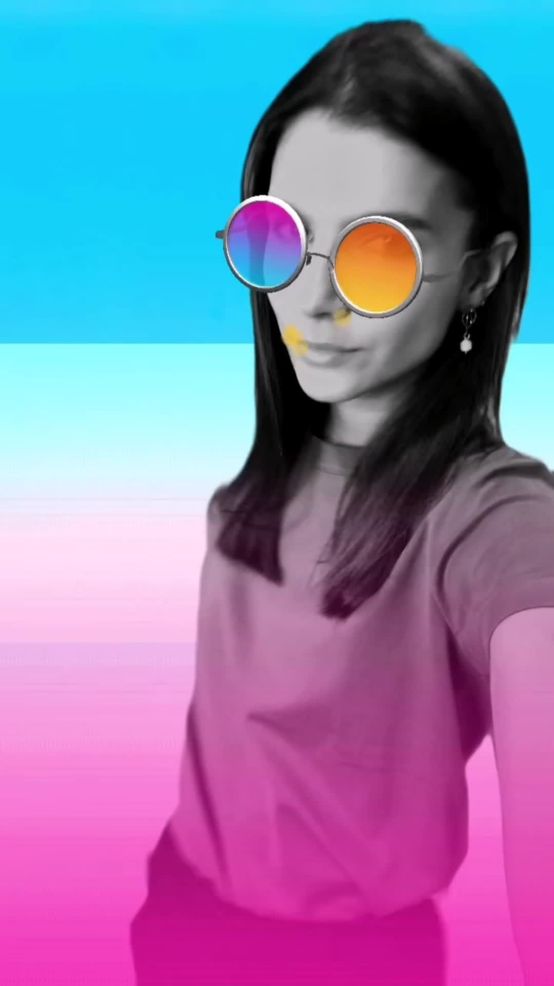 Instagram filter Сolored glasses