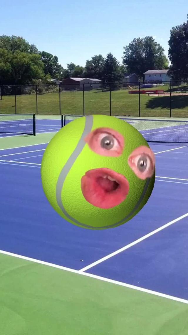 Instagram filter Tennis Ball Courting