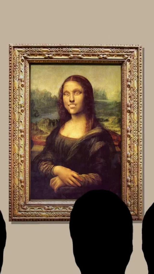 Instagram filter Mona Lisa