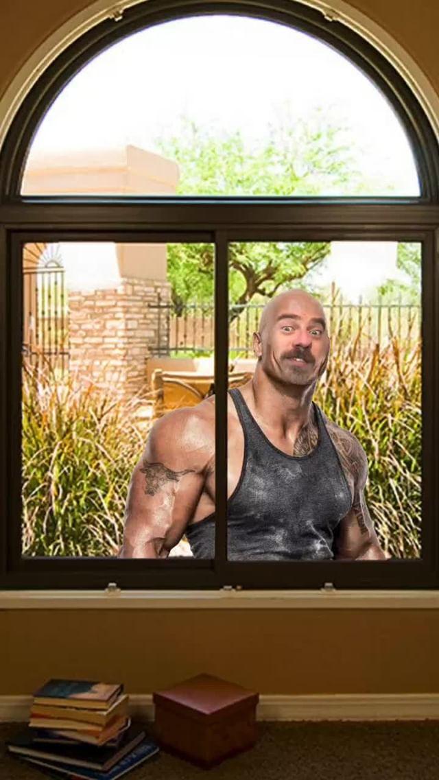 Instagram filter Rock in a Window