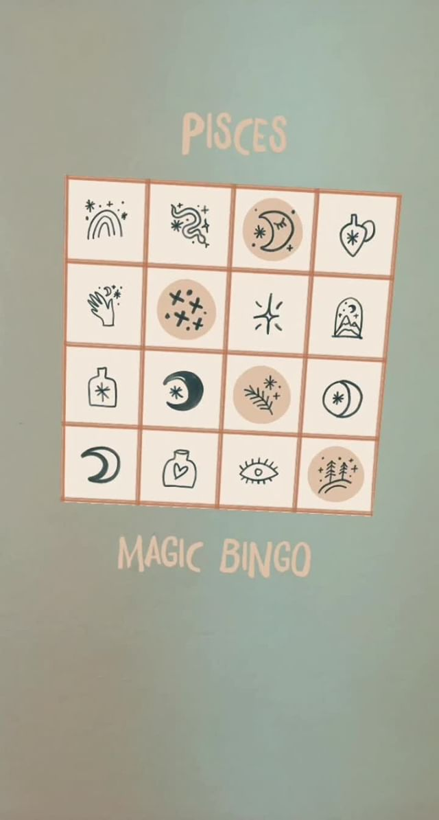 Instagram filter Zodiac Magic Bingo