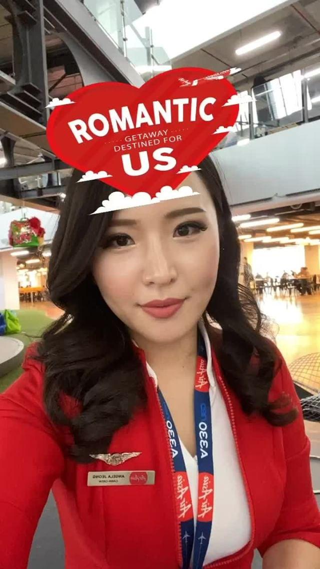 airasia Instagram filter Romantic Getaway