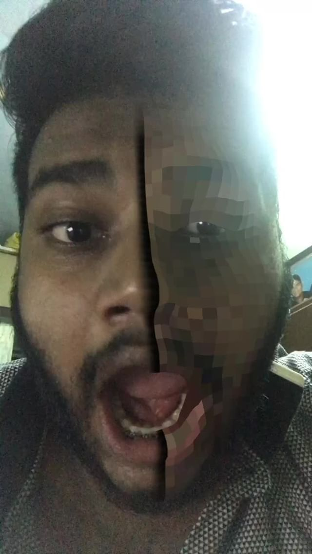 Instagram filter face pixel