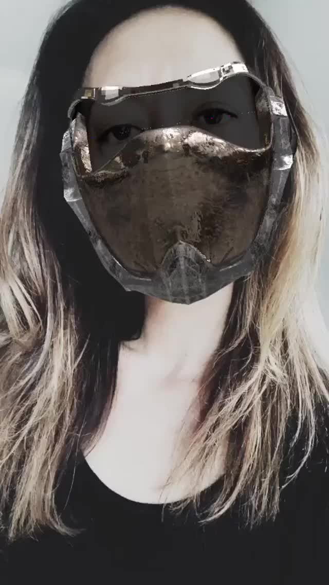 Instagram filter SciFi Mask