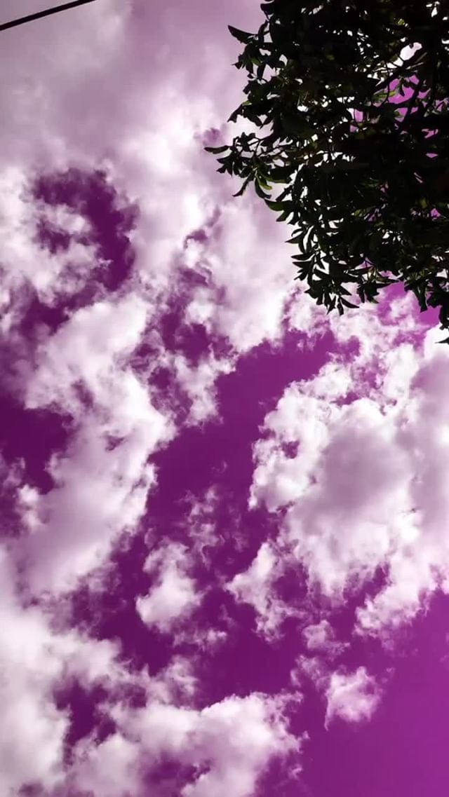 Instagram filter colorful sky