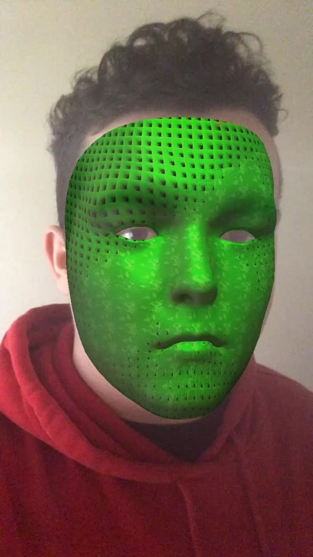 jdx.life Instagram filter Slime Mask