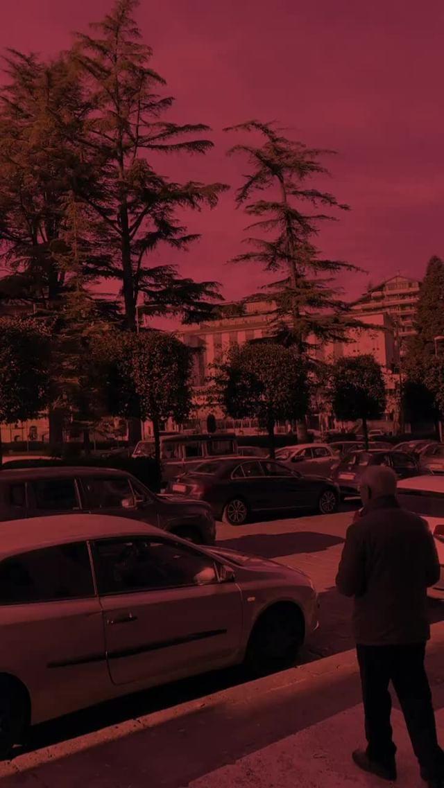 Instagram filter sky red