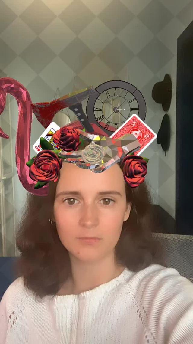 Instagram filter Red Queen