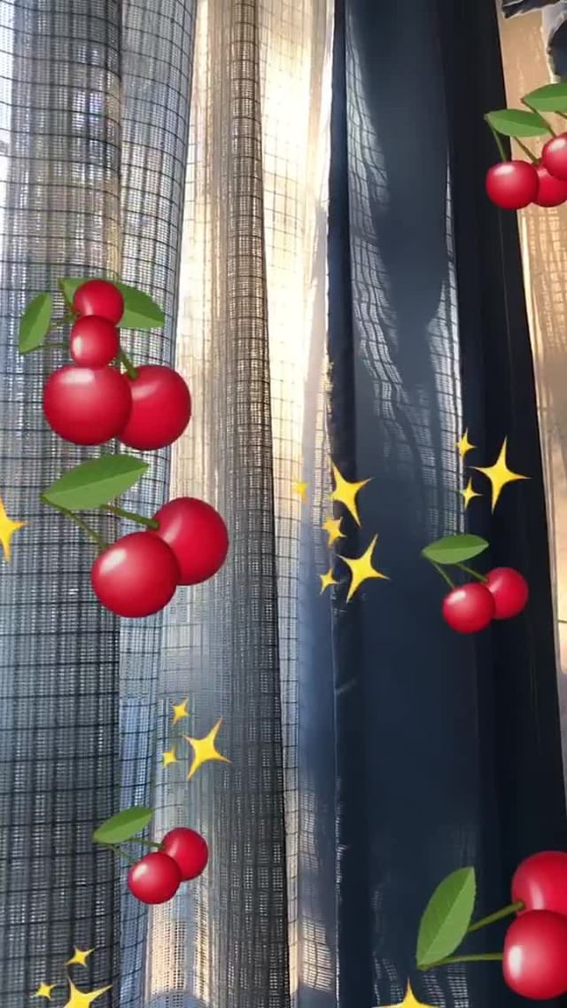 Instagram filter cherries