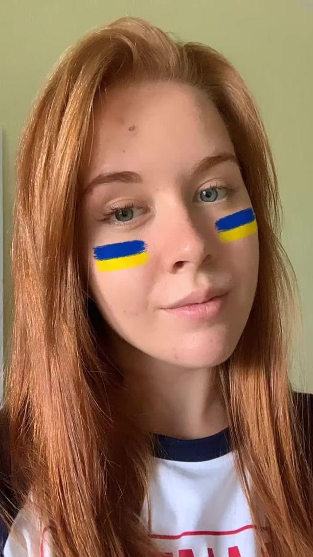 malina96 Instagram filter Ukrainian flag