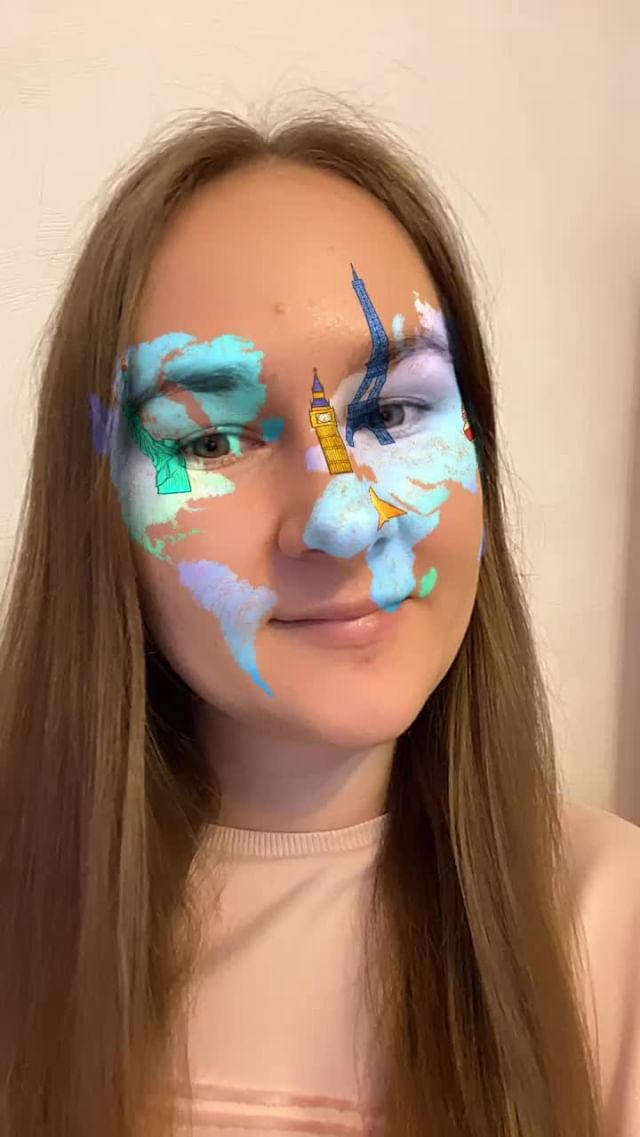 Instagram filter Continents