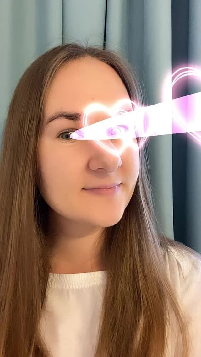 Instagram filter Love Laser