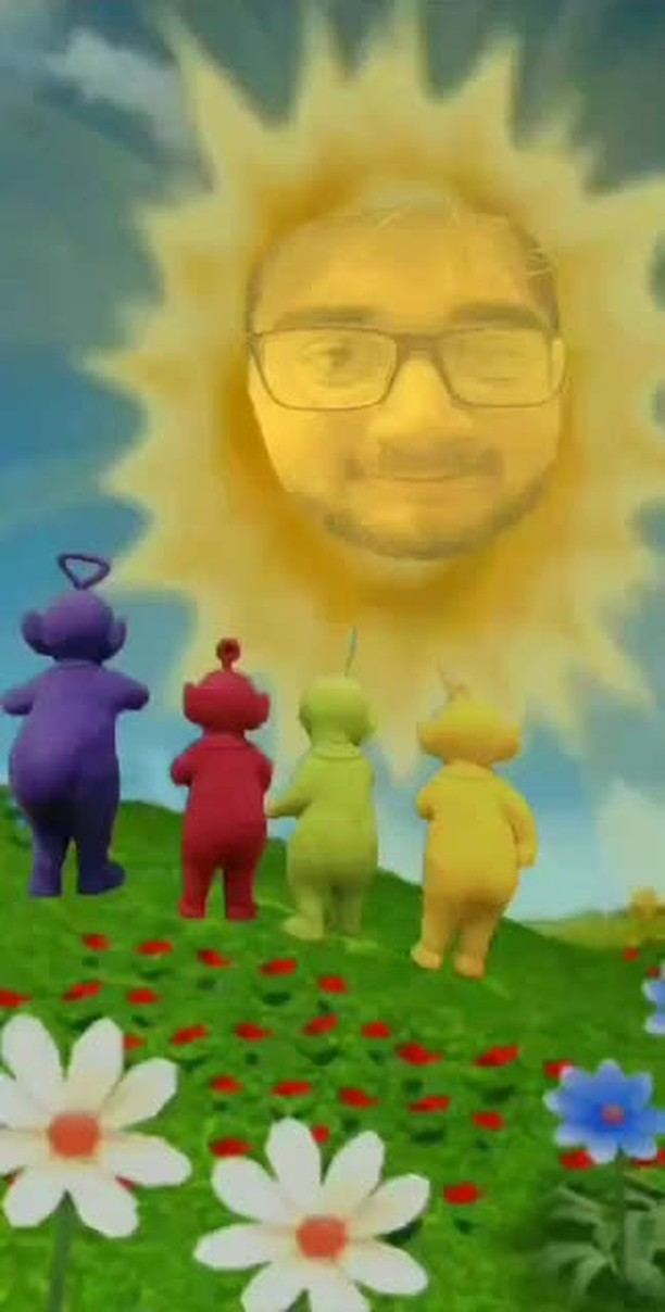 paskch Instagram filter Teletubbies-Sun