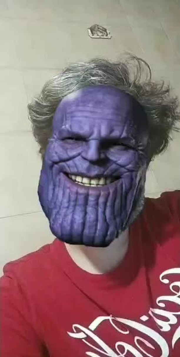 paskch Instagram filter  Thanos Smiling