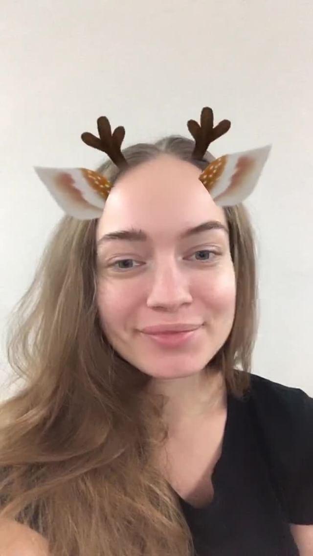 grishaeva.law Instagram filter Music Christmas Deer