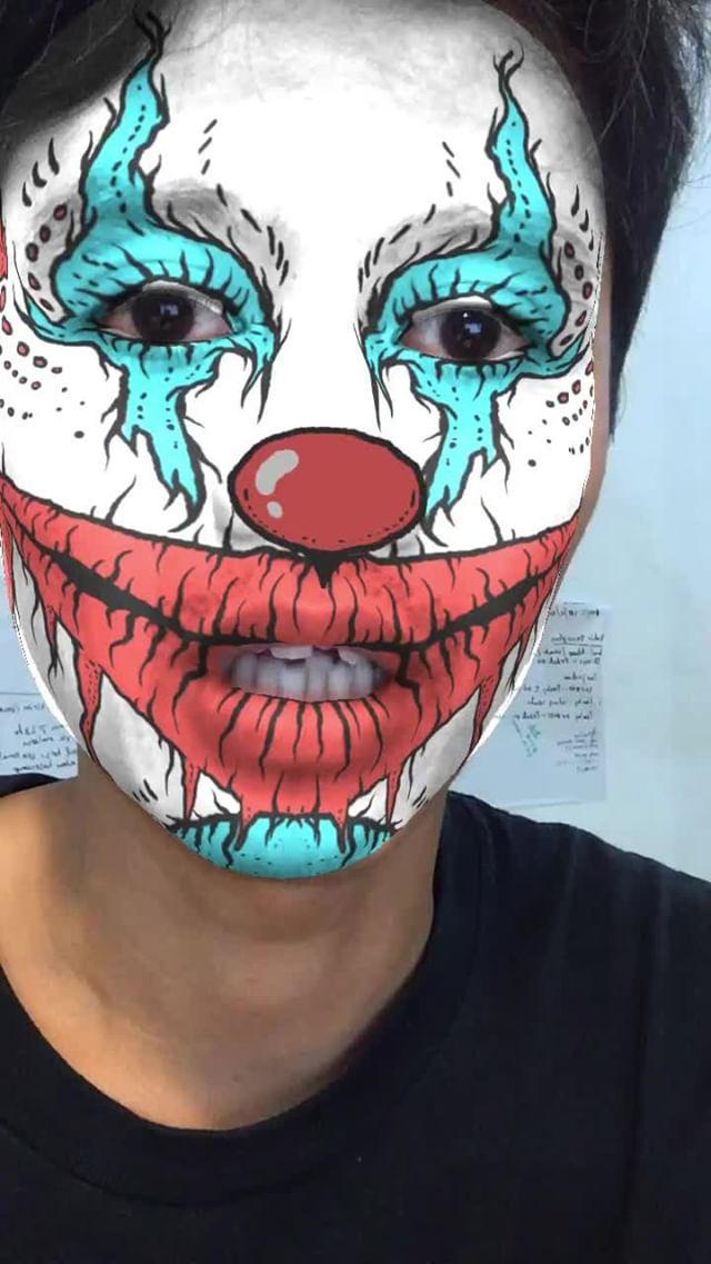 masqoi Instagram filter clown faces