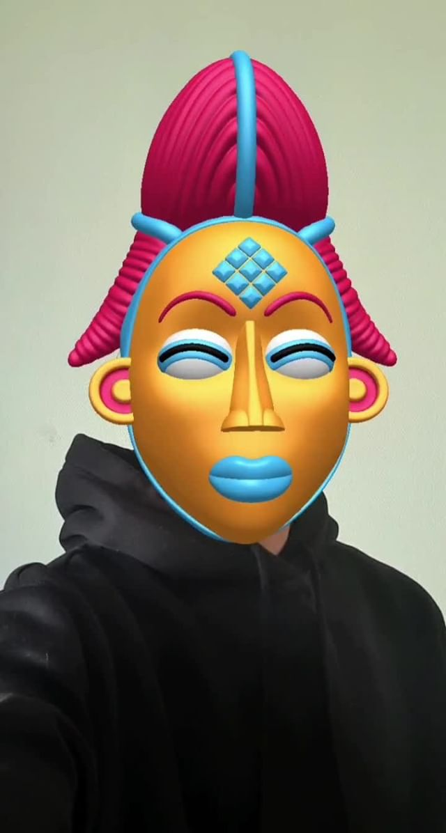 drifs Instagram filter Punu mask
