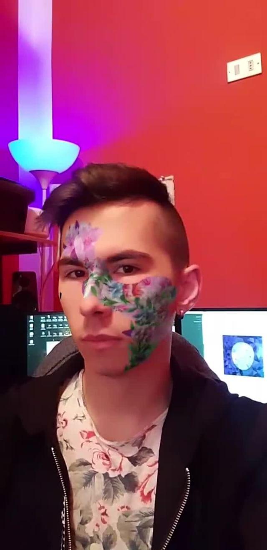 Instagram filter Flower Mask
