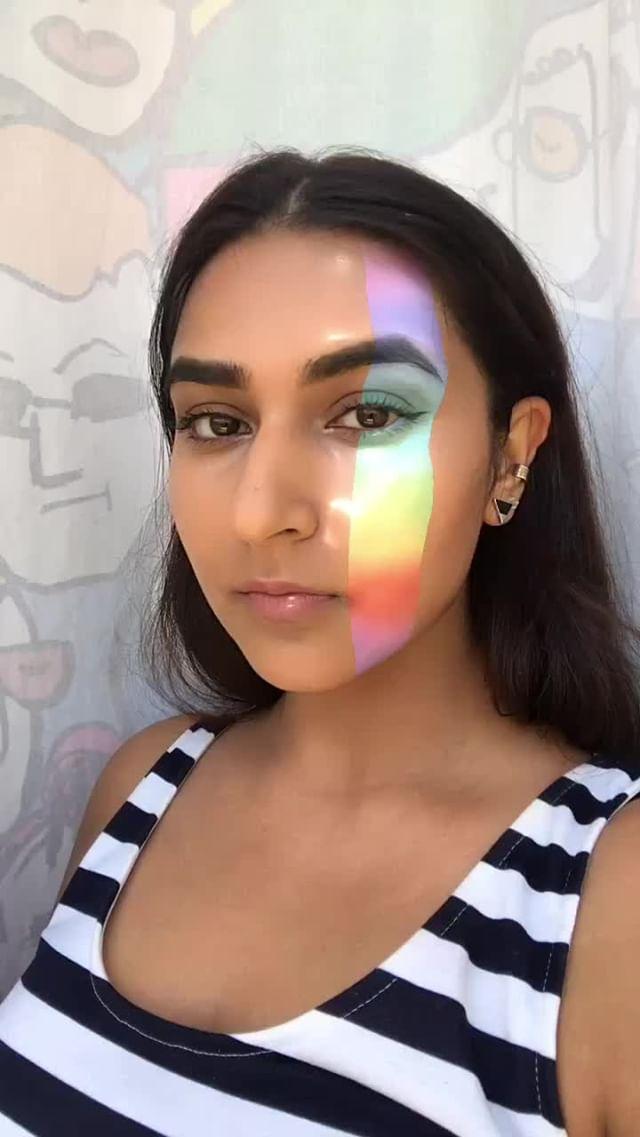 noordhanju Instagram filter rainbow mirage