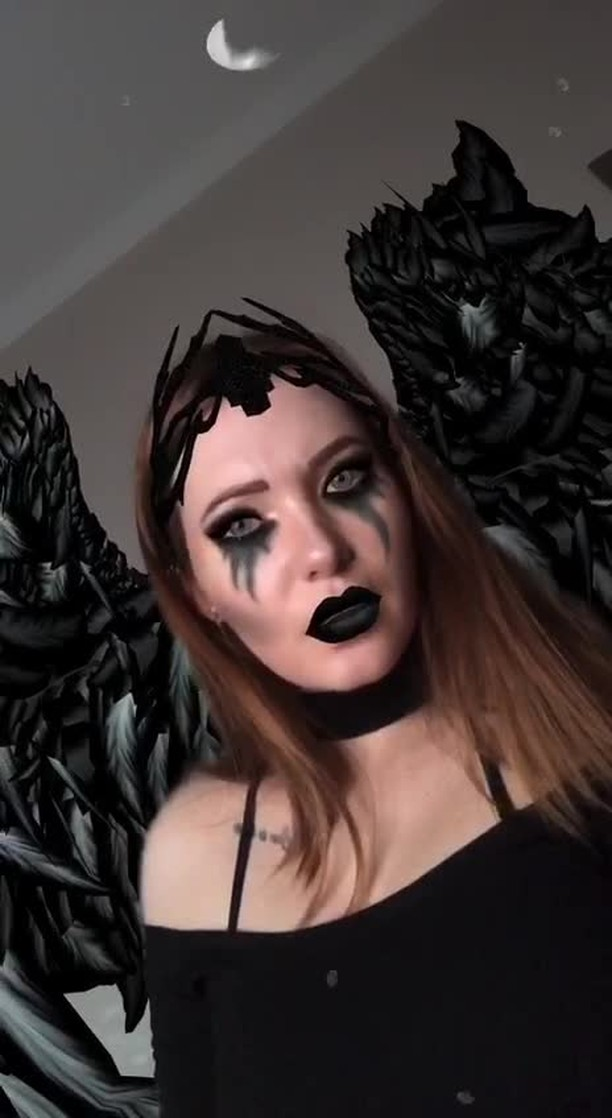 Instagram filter DARK ANGEL