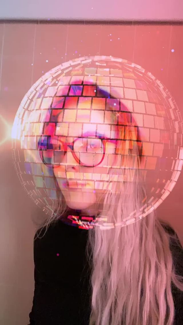 esperstar Instagram filter Disco Ball Head