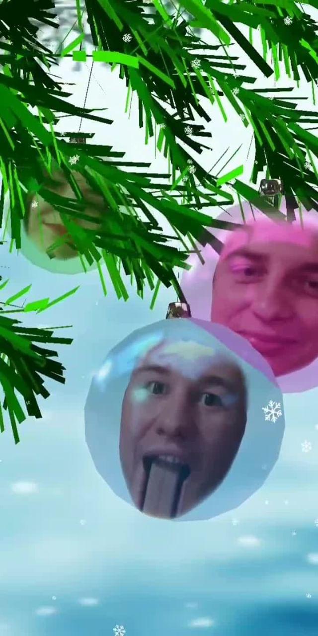 Instagram filter christmas balls
