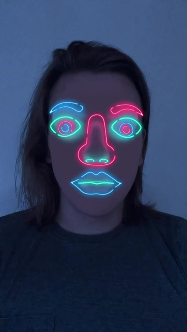 bourgadotin Instagram filter Neon Face