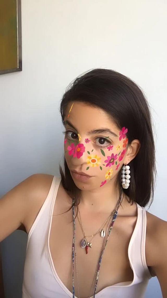 selmakacisebbagh Instagram filter Flower Power