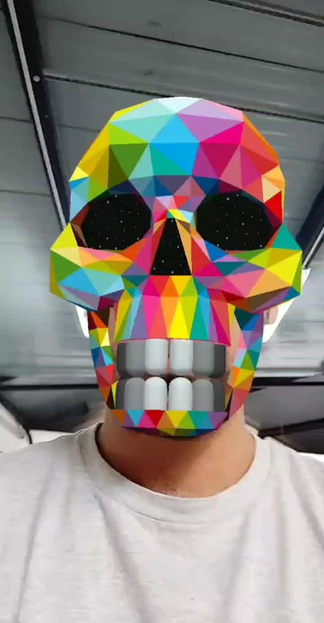 okudart Instagram filter Okuda Skull