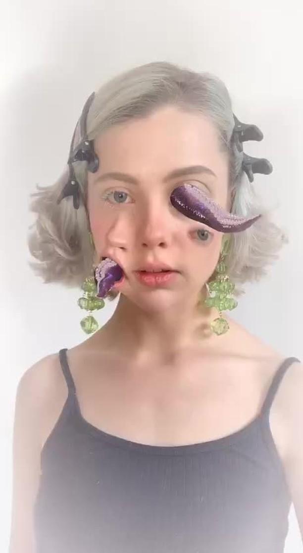 sheidlina Instagram filter facial octopus
