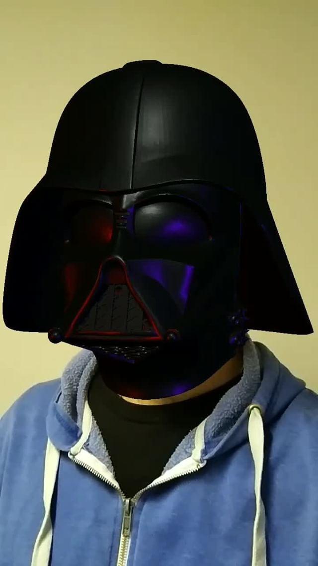 Instagram filter Darth Vader