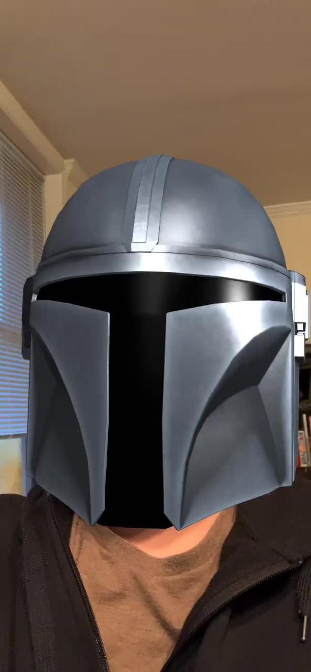 Instagram filter Mandalorian Helmet