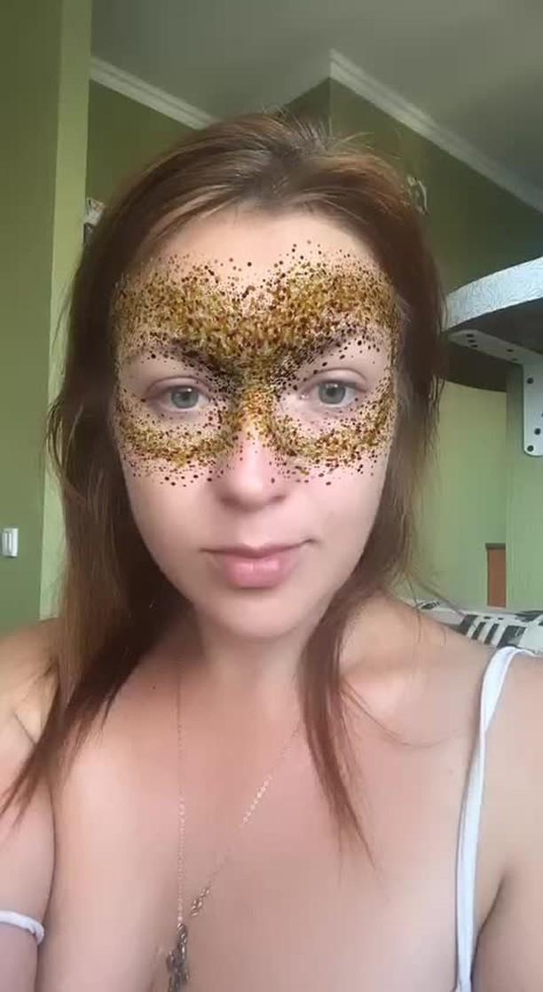 nastya.maski Instagram filter Gold Mask