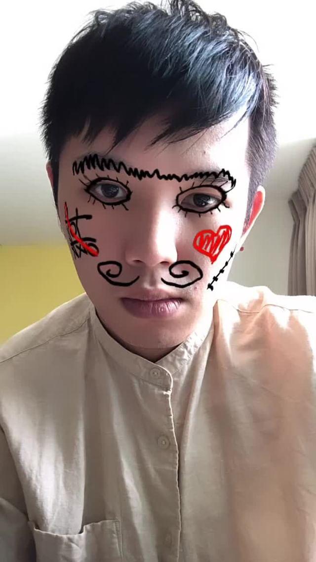 tongchar.a Instagram filter Face Doodle