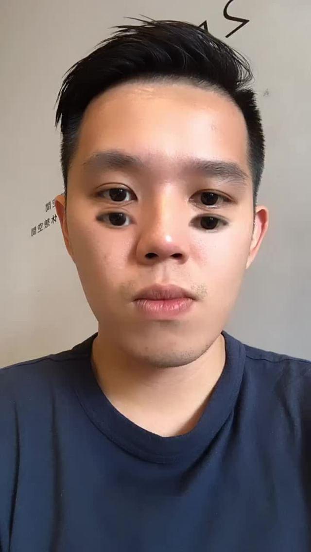 tongchar.a Instagram filter Double eyes