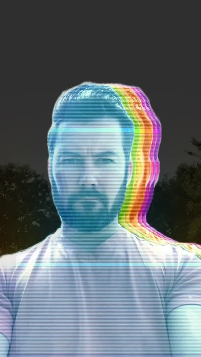 Instagram filter Electric Rainbow