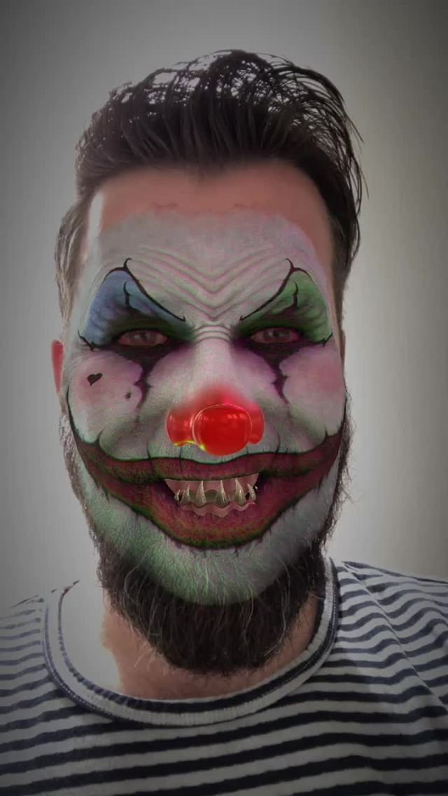 Instagram filter Creepy Clown