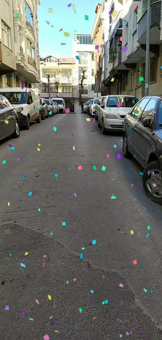 Instagram filter Confetti Day