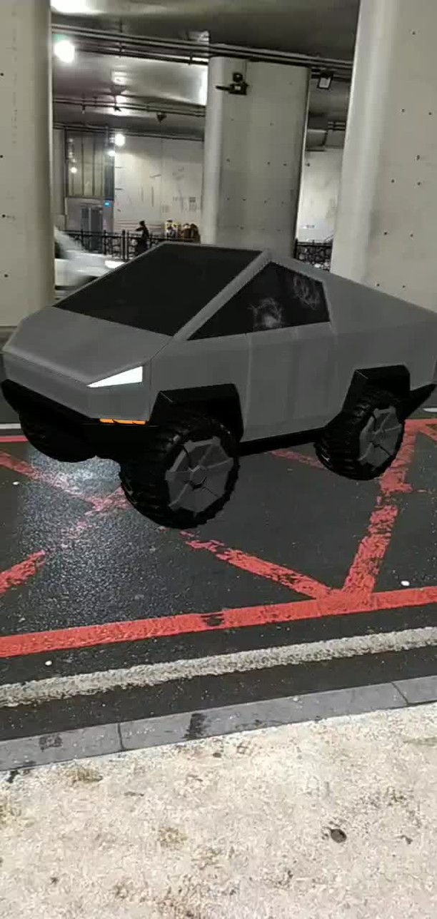 Instagram filter Tesla Cyber Truck