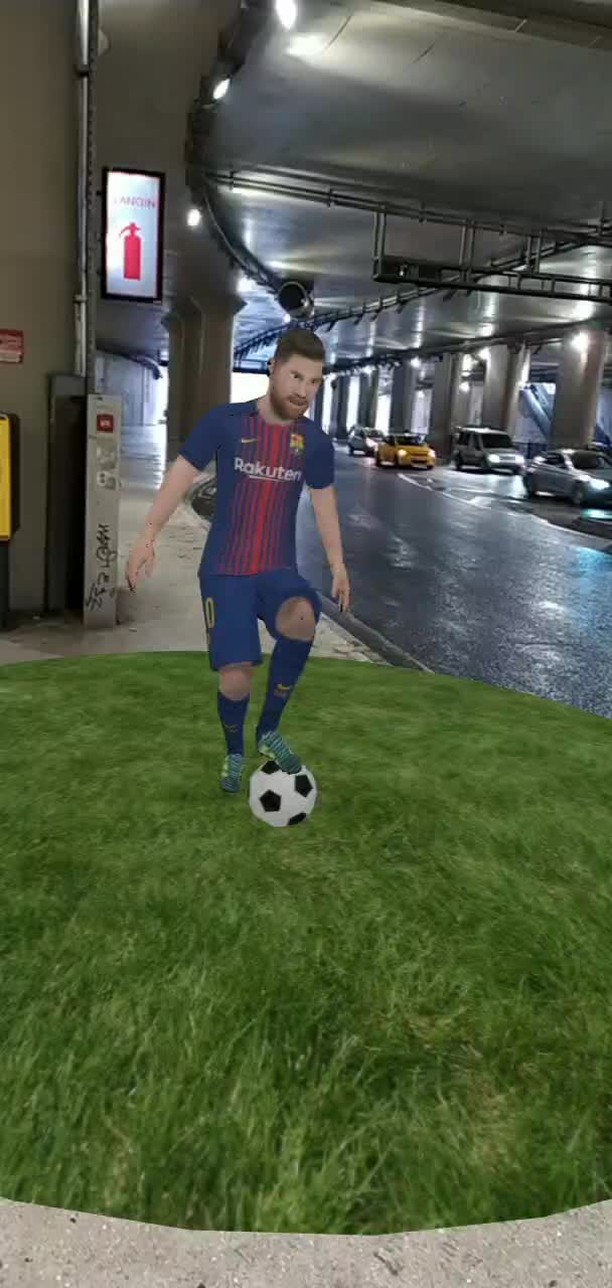 Instagram filter Messi