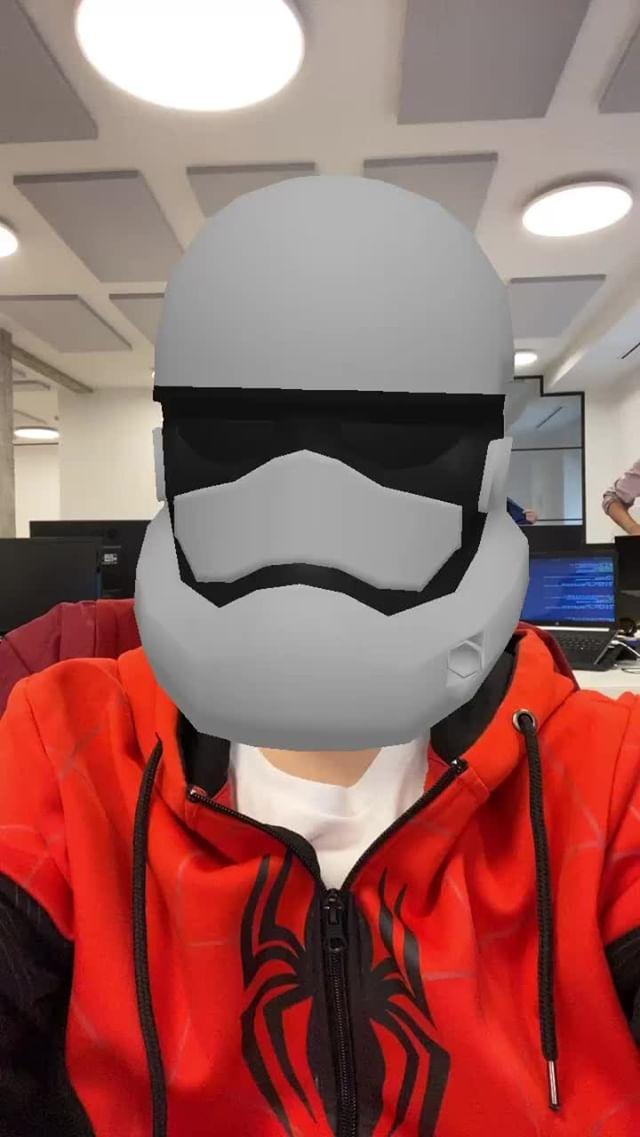 novoxyt Instagram filter StormTrooper Helmet